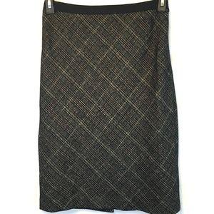 🔴 Ann Taylor Wool Blend Lined Career Pencil Skirt